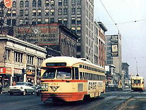 The last of the Detroit street cars stopped running in 1956