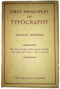stanley morison first principles of typography pdf