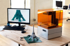 Form 1 desktop 3-D printer