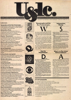 The first edition of U&lc, 1973