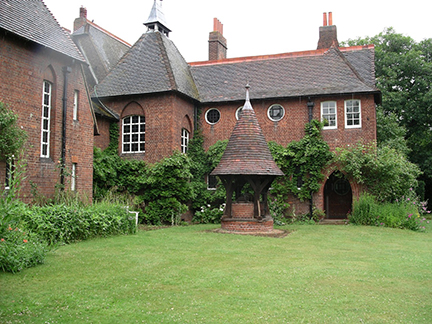 Red House where William Morris lived with his wife Jane from 1860 to 1865. It is owned today by the National Trust and is open to the public.