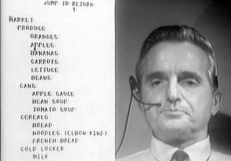Engelbart Demonstrating NLS