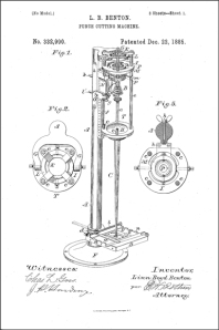 Patent for Benton's pantographic punch cutting machine