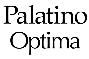 Zapf's Palatino (1948) and Optima (1952) fonts