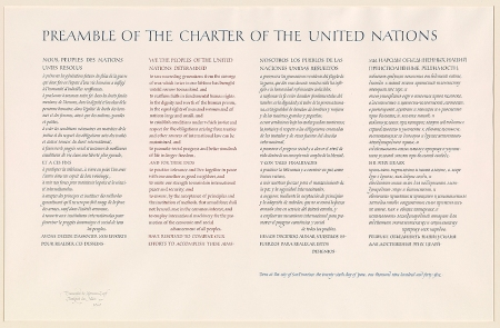 Preamble of the charter of The United Nations