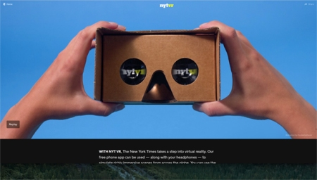 New York Times VR promtion