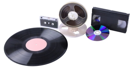 Vinyl records, magnetic tapes and optical recording formats preceded downloading and streaming