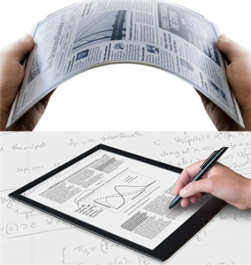 "The Sony Digital Paper System (DPT-S1) is based on E Ink's Mobius e-paper display technology: 13.3"" format, flexible and supports stylus handwriting"