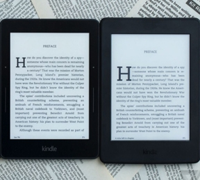 Kindle Voyage (2014) and Kindle Paperwhite (2015) with the latest e-paper displays (Carta) from E ink