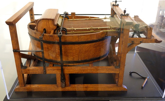 Model of Robert's original invention reconstructed from the drawings that accompanied his French patent application of 1798