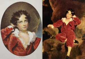 Godefroy Engelmann 1838 chromolithograph copy and the original oil of Master Lambton