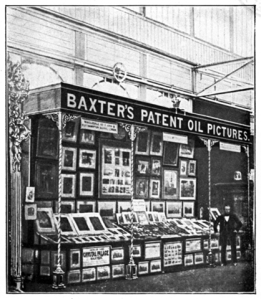 Baxter's print booth at the Great Exhibition