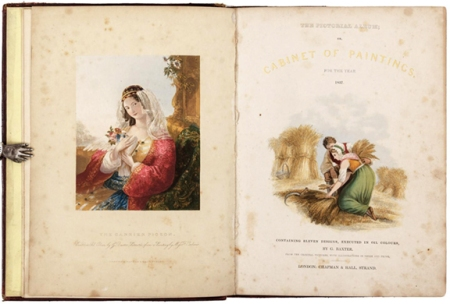 """The Pictorial Album, or Cabinet of Paintings for the Year 1837"" included eleven color prints by George Baxter. Some consider this to be among his finest work."