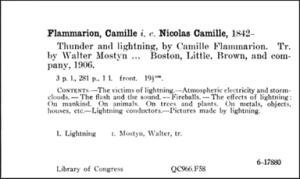 Printed library catalog card