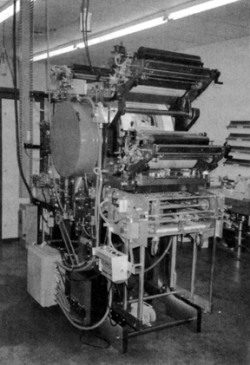 Prototype of the Heidelberg Quickmaster DI press that was designed with integrated Presstek direct imaging technology